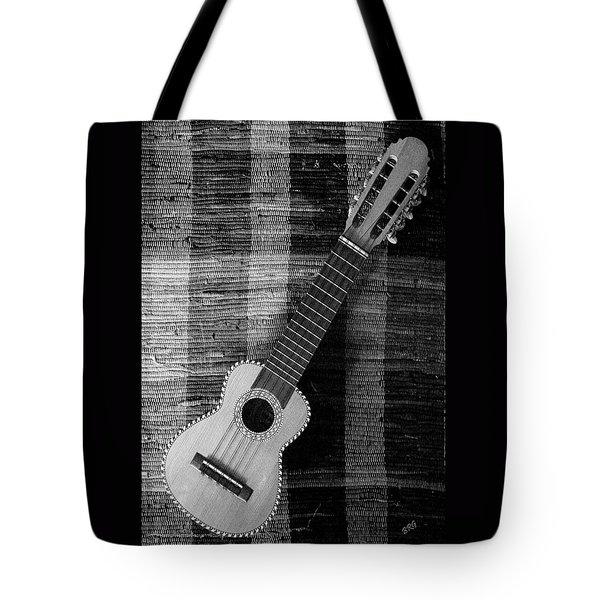 Ukulele Still Life In Black And White Tote Bag
