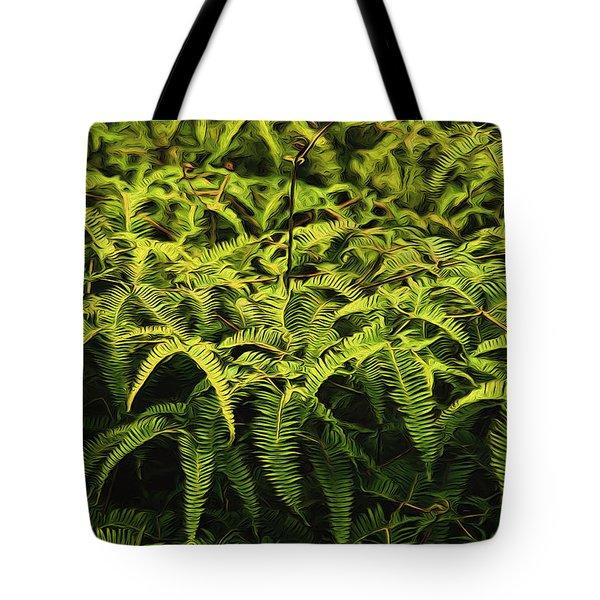 Uluhe Fern II Tote Bag
