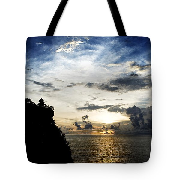 Tote Bag featuring the photograph Uluwatu Temple by Yew Kwang
