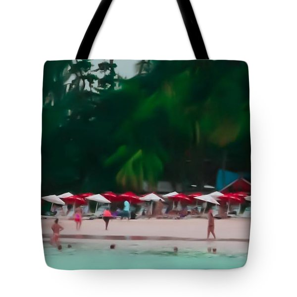 Umbrella Beach Tote Bag by Perry Webster