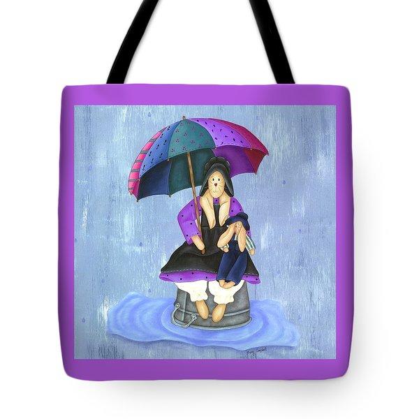 Umbrella Bunny Tote Bag