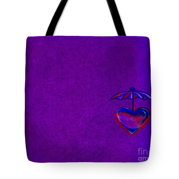 Umbrella Heart Tote Bag