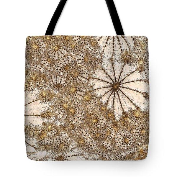Umbrellas And Urchins Tote Bag by Liz  Alderdice