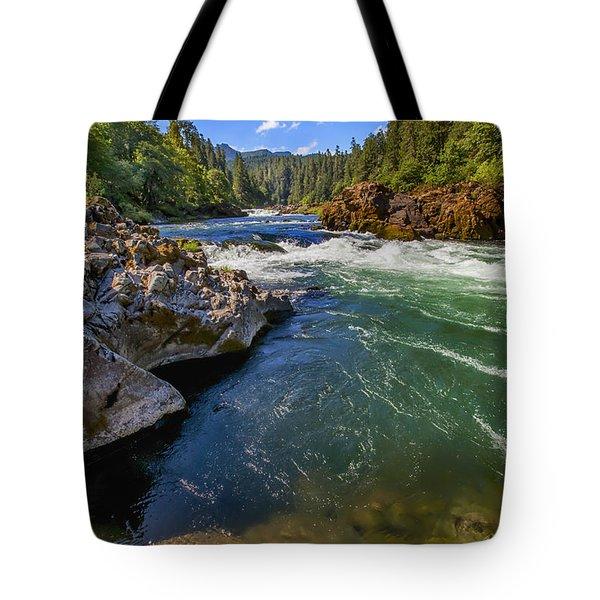 Tote Bag featuring the photograph Umpqua River by David Millenheft