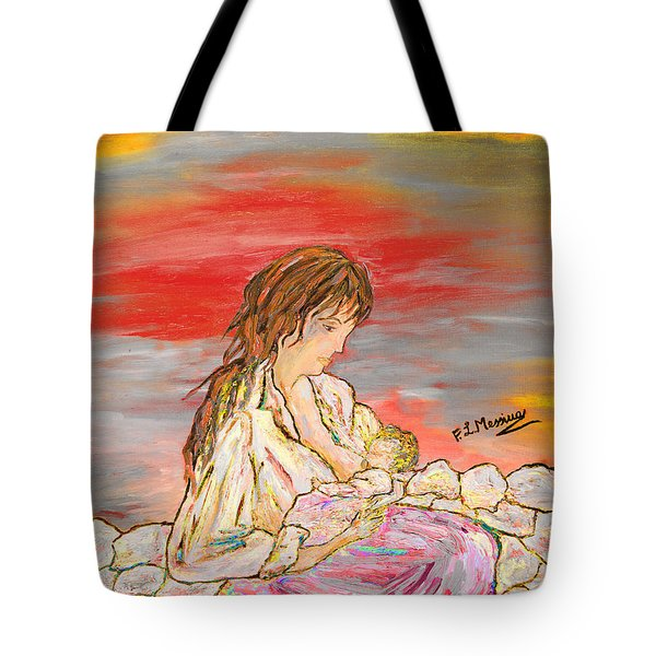 Tote Bag featuring the painting Un Pensiero Costante by Loredana Messina