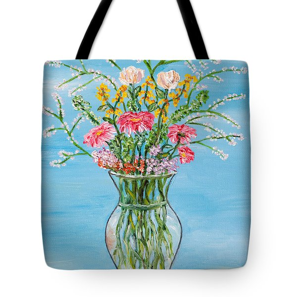 Tote Bag featuring the painting Un Segno by Loredana Messina