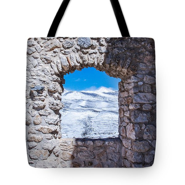 A Window On The World Tote Bag by Andrea Mazzocchetti