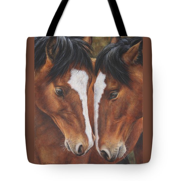 Tote Bag featuring the painting Unbridled Affection by Kim Lockman