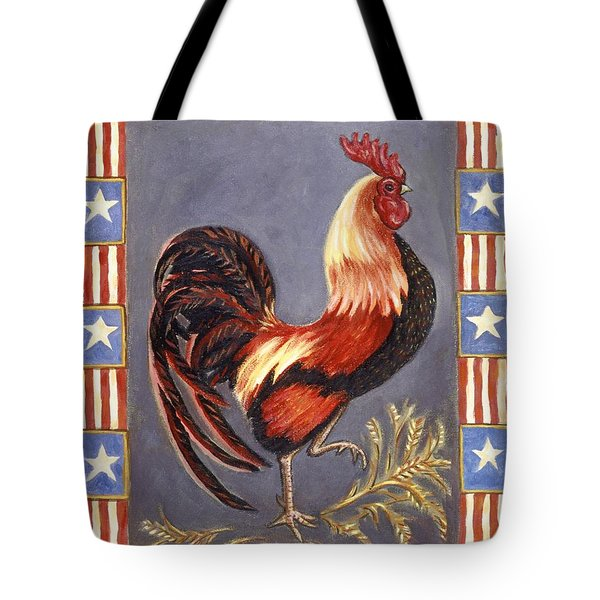 Uncle Sam The Rooster Tote Bag by Linda Mears