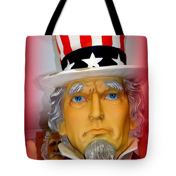 Uncle Sam Wants You Tote Bag by Ed Weidman