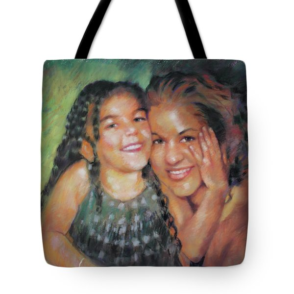 Tote Bag featuring the drawing Unconditional Love by Viola El
