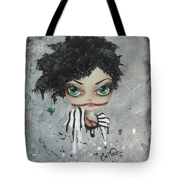 Undead Beauty Queen Tote Bag by Oddball Art Co by Lizzy Love