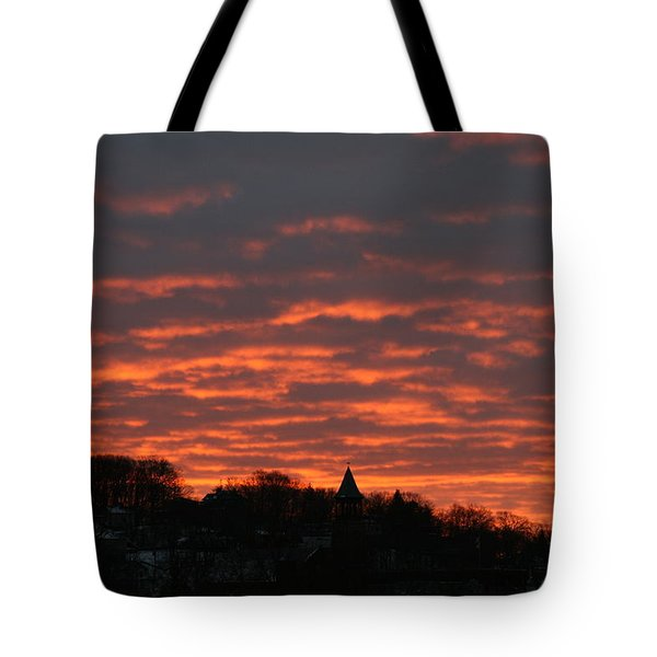 Under A Blood Red Sky Tote Bag by Neal Eslinger