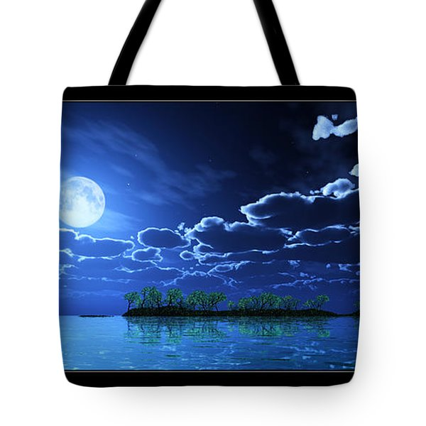 Under A Silvery Moon... Tote Bag by Tim Fillingim