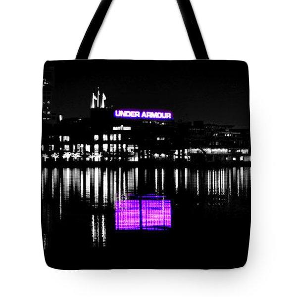Under Amour At Night - Vibrant Color Splash Tote Bag