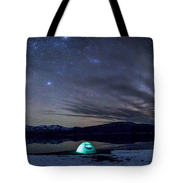Tote Bag featuring the photograph Under Big Skies by Aaron Aldrich