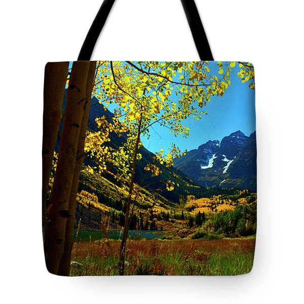 Under Golden Trees Tote Bag