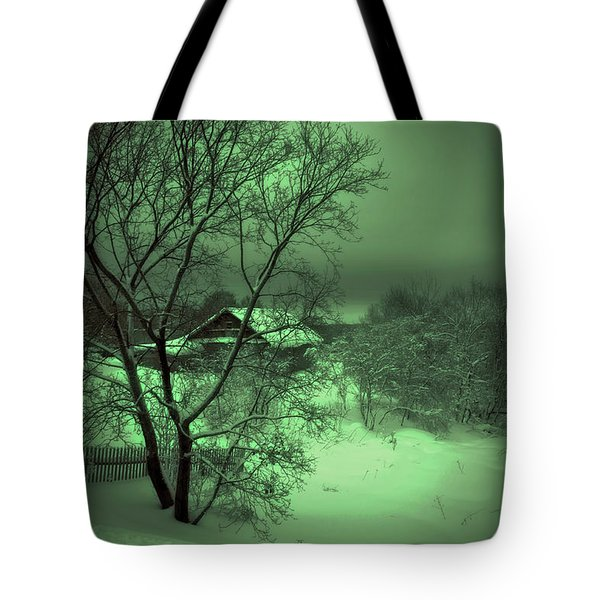 Under Green Moon Tote Bag by Jenny Rainbow