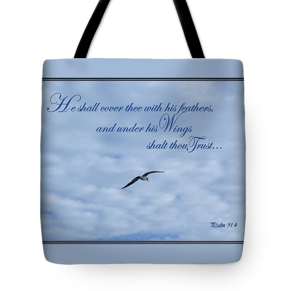 Under His Wings Tote Bag by Larry Bishop