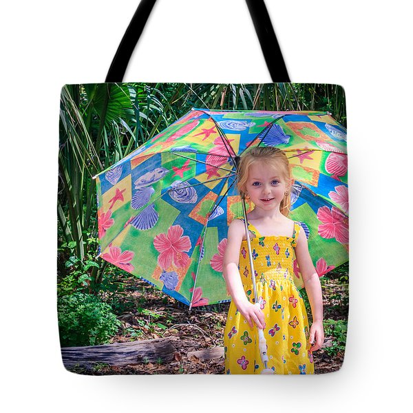 Tote Bag featuring the photograph Under My Umbrella by Rob Sellers