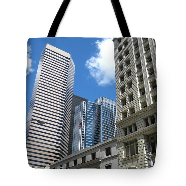 Under Seattle Blue Tote Bag