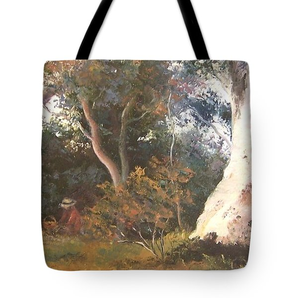Under The Ancient Gum Tees Tote Bag by Jan Matson