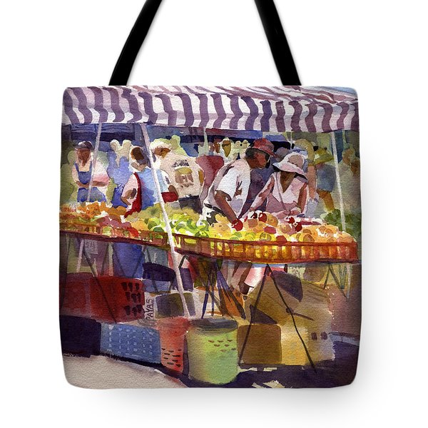 Under The Awning Tote Bag by Kris Parins