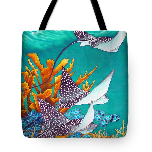 Under The Bahamian Sea Tote Bag by Daniel Jean-Baptiste
