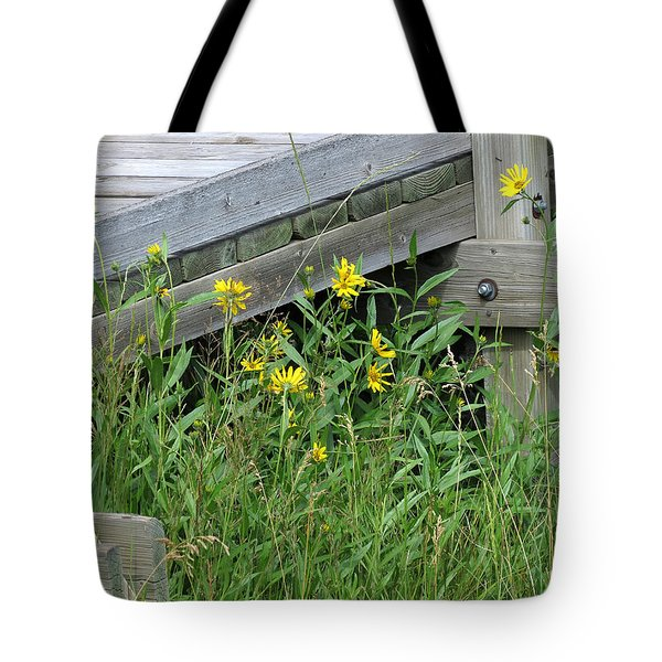 Tote Bag featuring the photograph Under The Boardwalk by Laurel Powell