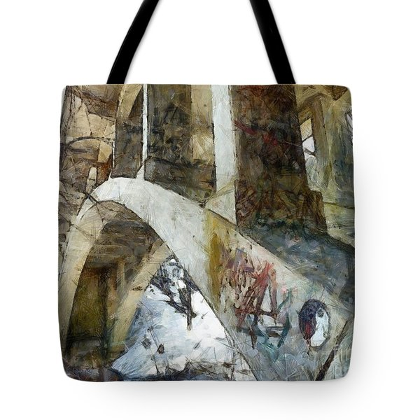 Under The Bridge  Tote Bag by Janine Riley