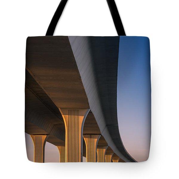 Under The Bridge Tote Bag by Jola Martysz