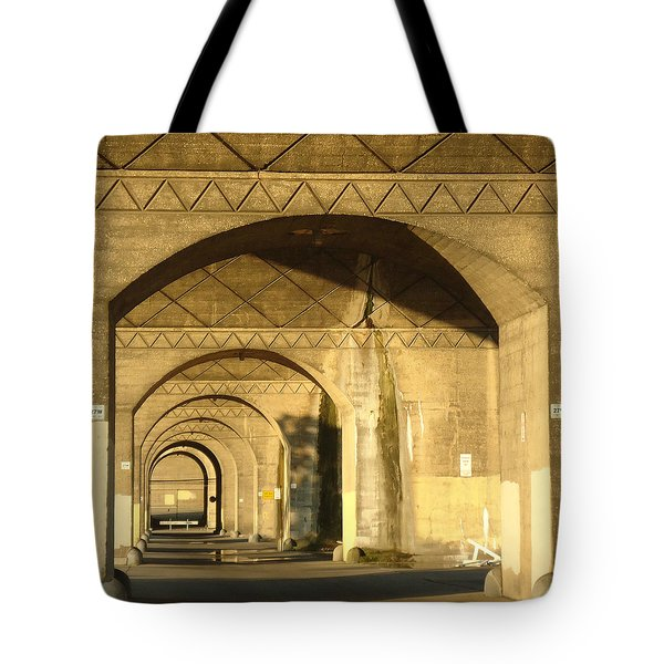 Under The Bridge Tote Bag by Joseph Skompski