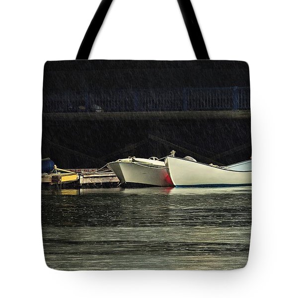 Tote Bag featuring the photograph Under The Bridge by Laura Ragland