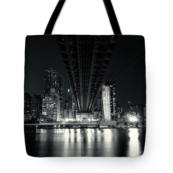 Under The Bridge - New York City Skyline And 59th Street Bridge Tote Bag by Vivienne Gucwa