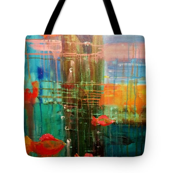Under The Dock Tote Bag by Renate Nadi Wesley
