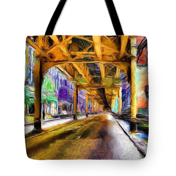 Under The El - 20 Tote Bag by Ely Arsha