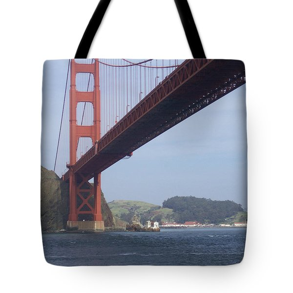 Under The Golden Gate - San Francisco Golden Gate Bridge 2006 - Scenic Photography - Ai P. Nilson Tote Bag