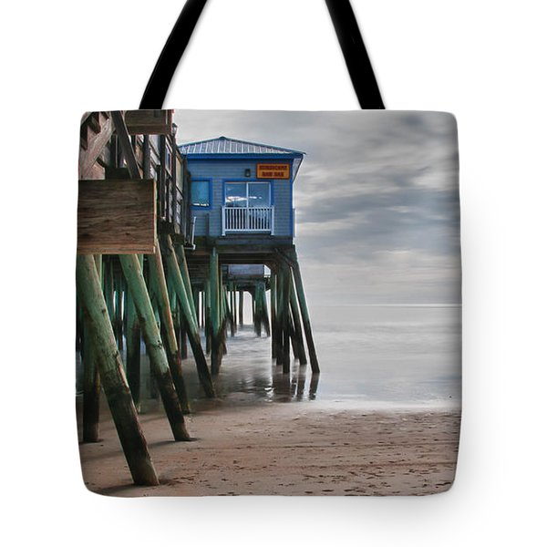 Under The Hurricane Raw Bar Tote Bag by Guy Whiteley