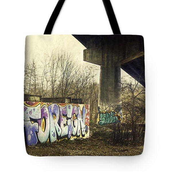 Under The Locust Street Bridge Tote Bag