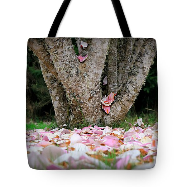 Tote Bag featuring the photograph Under The Magnolia Tree by Katie Wing Vigil