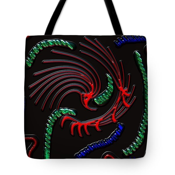 Under The Microscope Tote Bag by Alec Drake