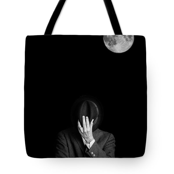Under The Moonlight The Serious Moonlight Tote Bag by Edward Fielding