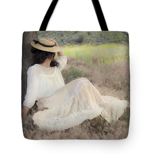Under The Old Appletree Tote Bag by Theresa Tahara