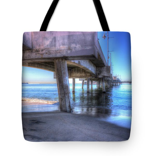 Under The Pier Tote Bag by Heidi Smith