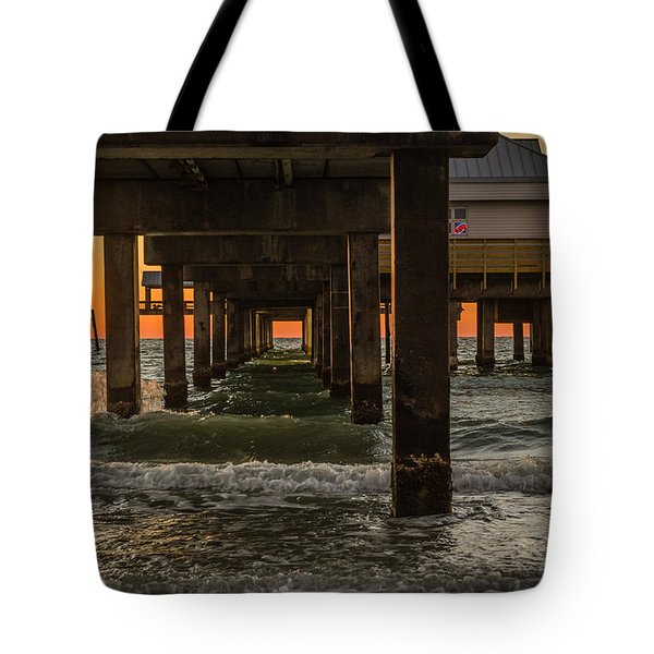 Under The Pier Tote Bag by Jane Luxton