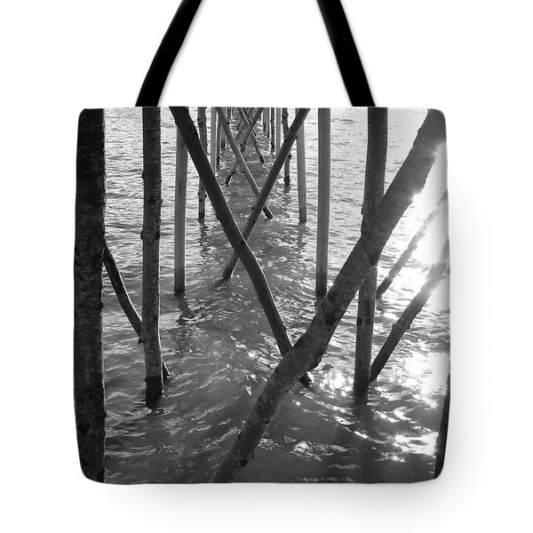 Under The Pier Tote Bag by Ramona Johnston