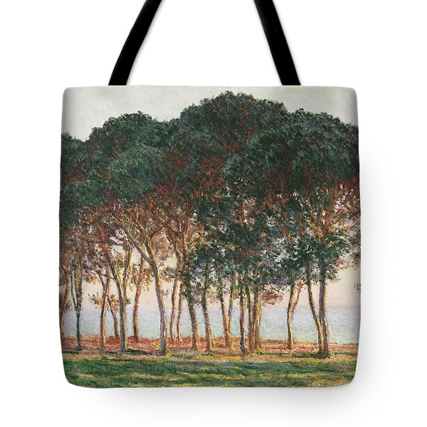 Under The Pines. Evening Tote Bag by Claude Monet