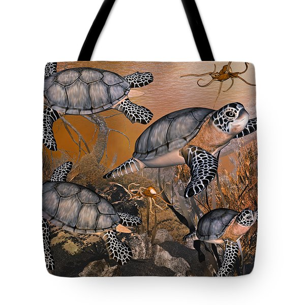 Under The Red Sea Tote Bag by Betsy Knapp