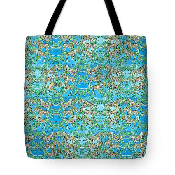 Under The Sea Horses Tote Bag