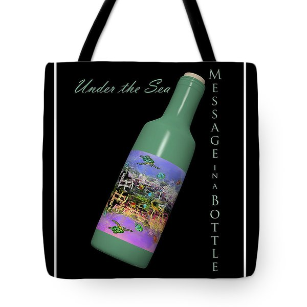 Under The Sea Message In A Bottle Tote Bag